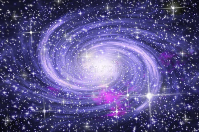 Galáxia espiral ilustração do vetor