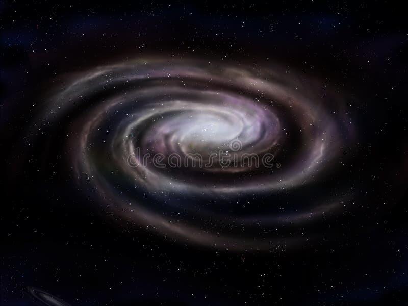 Galáxia espiral ilustração stock