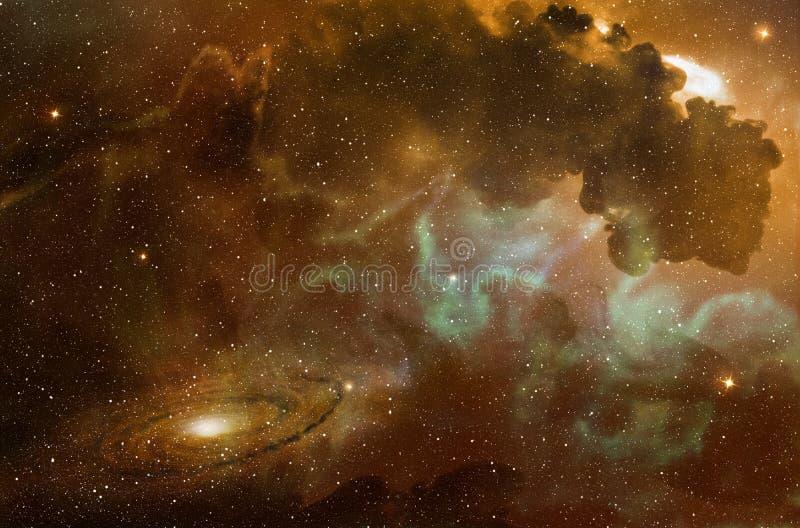 Galáxia espiral em uma nebulosa colorida ilustração do vetor