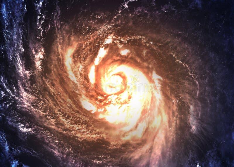 Galáxia espiral Incredibly bonita em algum lugar dentro fotos de stock royalty free