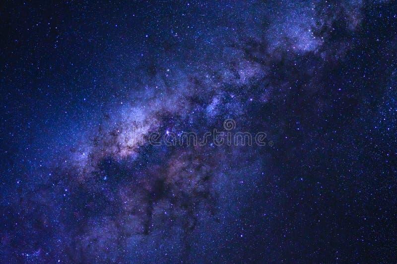 A galáxia estrelado do céu noturno e da Via Látea com estrelas e o espaço espanam fotos de stock