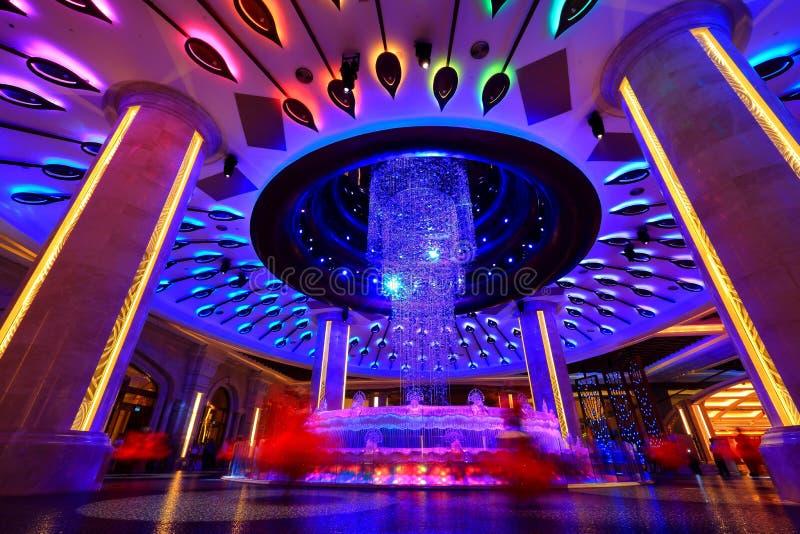 Galáxia Macau, Diamond Lobby imagem de stock