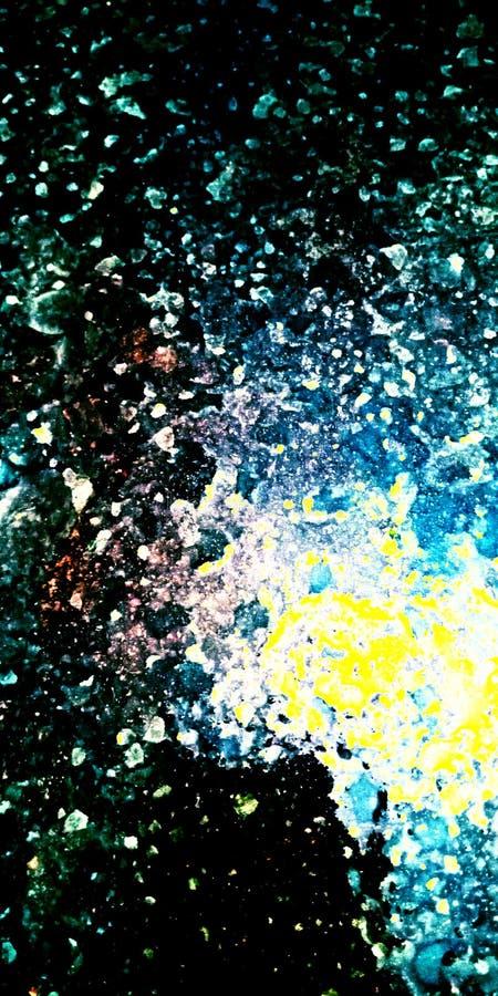 A galáxia negligencia a foto conservada em estoque abstrata ilustração stock