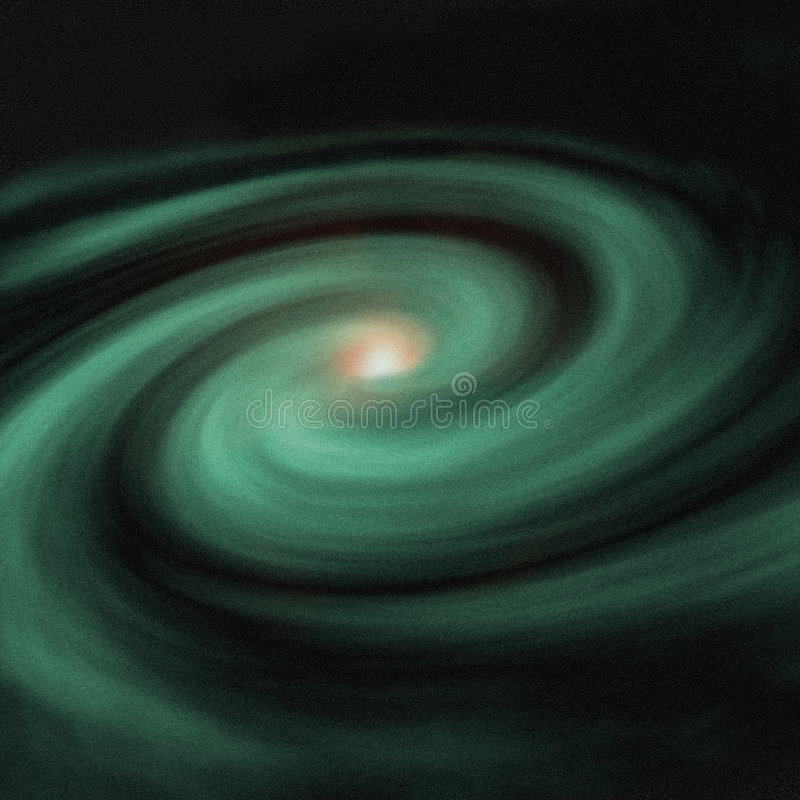 Galáxia verde ilustração do vetor