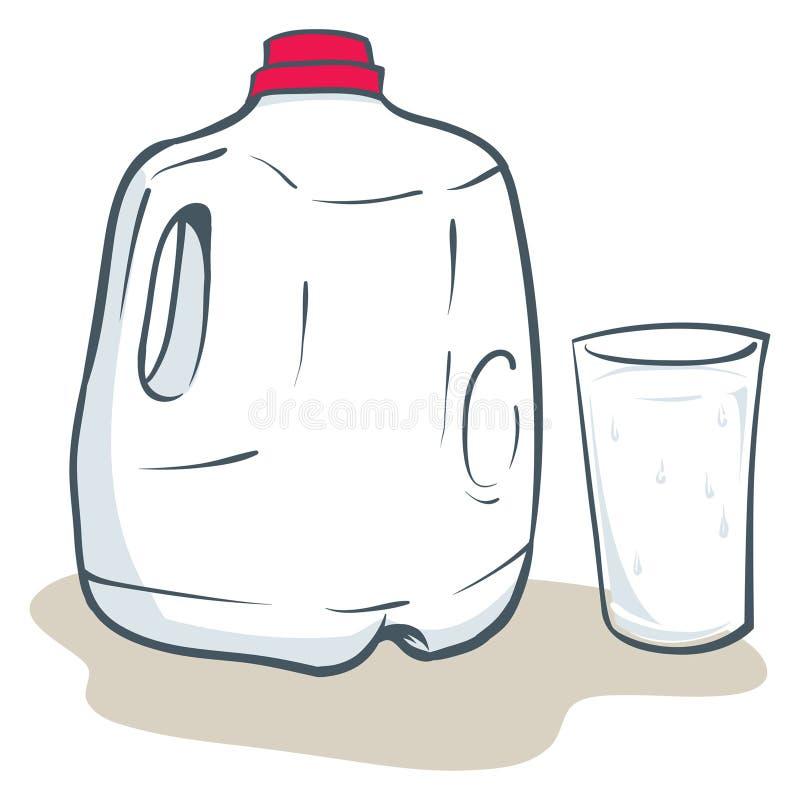 Galão do leite ilustração stock