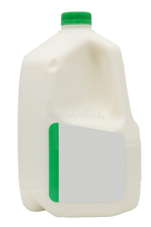 Galão do leite com trajeto de grampeamento fotos de stock royalty free