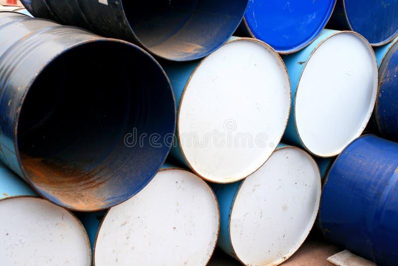 Galão velho do petróleo imagem de stock