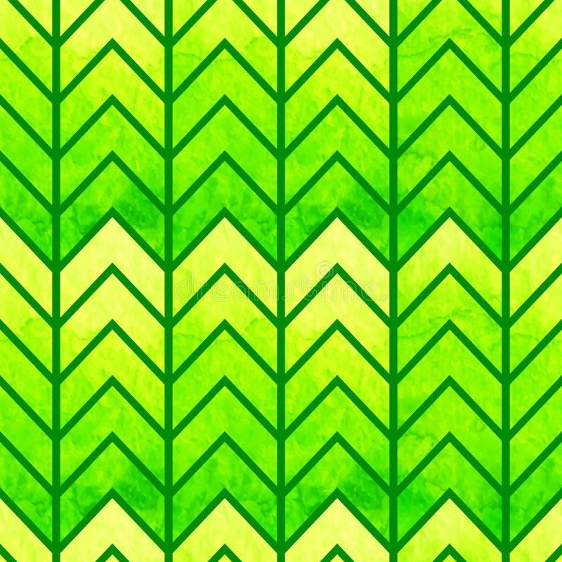 Galón geométrico inconsútil abstracto de la acuarela ilustración del vector