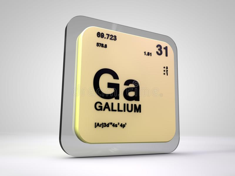 Gal - dziąsła - chemicznego elementu okresowy stół royalty ilustracja