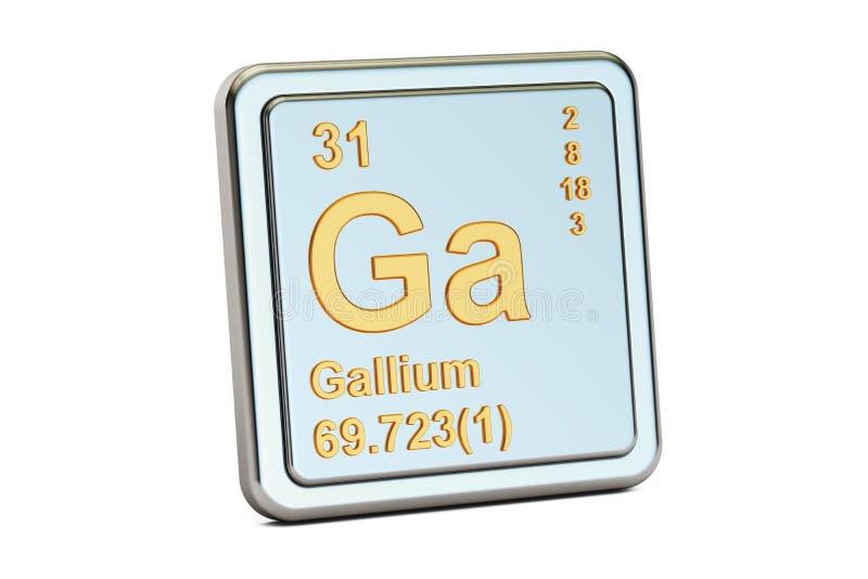 Gal dziąsła, chemicznego elementu znak świadczenia 3 d ilustracji