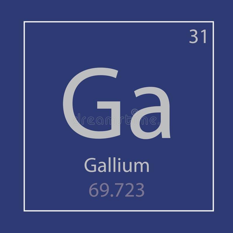 Gal dziąseł chemicznego elementu ikona ilustracja wektor