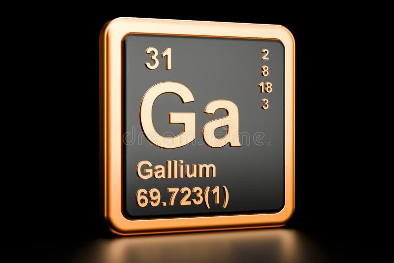 Gal dziąseł chemiczny element świadczenia 3 d ilustracja wektor