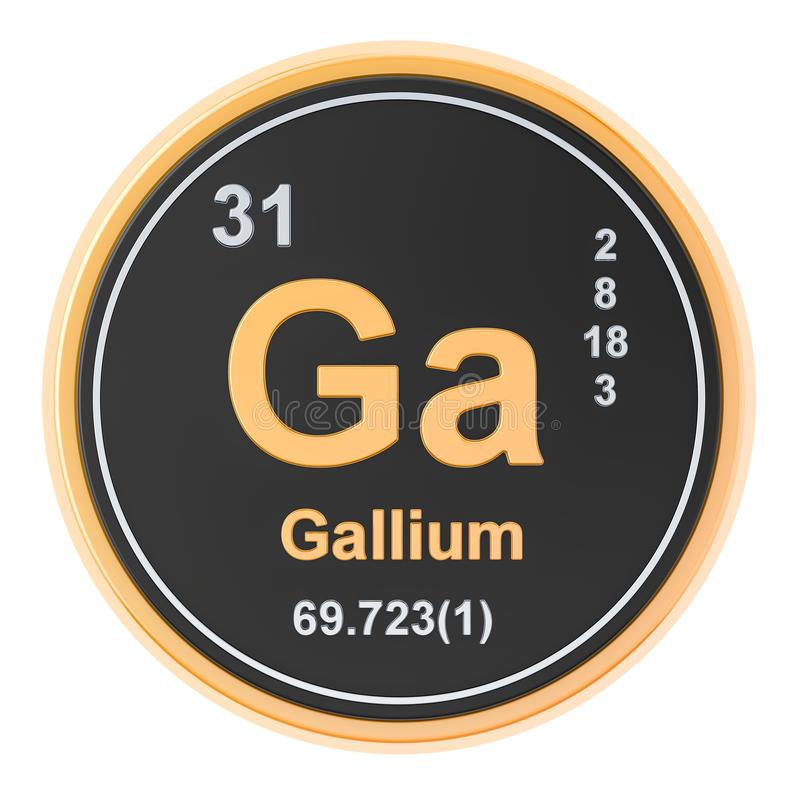 Gal dziąseł chemiczny element świadczenia 3 d royalty ilustracja