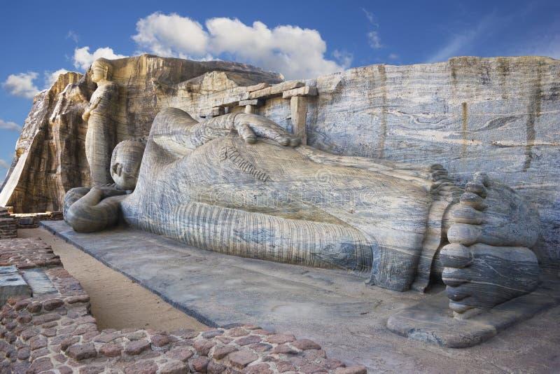 gal lanka polonnaruwa sri vihara 免版税库存图片