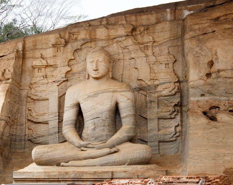 gal lanka polonnaruwa sri vihara 免版税库存照片