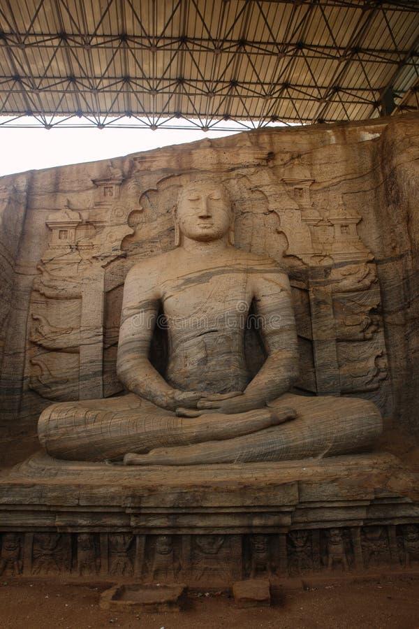 Gal Vihara状态在斯里兰卡 图库摄影