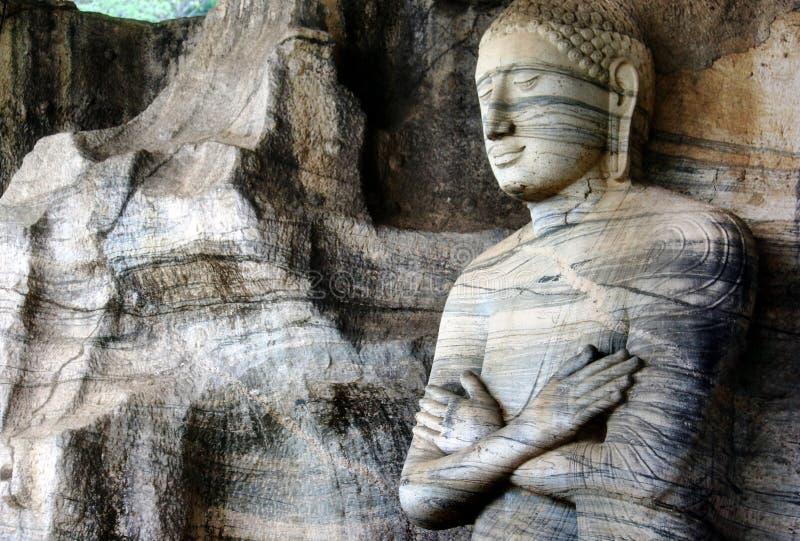 Gal Vihara Buddha Statues, Sri Lanka arkivfoto