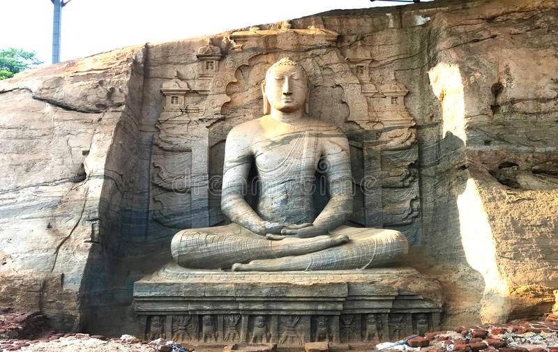 Gal Vihara Polonnaruwa, Шри-Ланка стоковые изображения rf