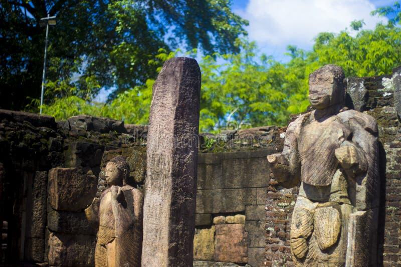 Gal Vihara, Polonnaruwa Sri lanka - obrazy stock