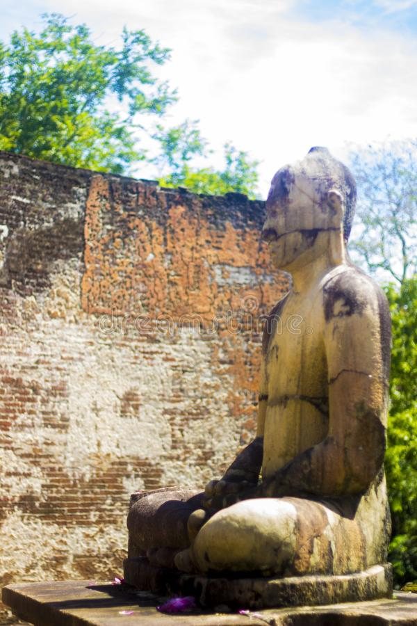 Gal Vihara, Polonnaruwa Sri lanka - obraz royalty free