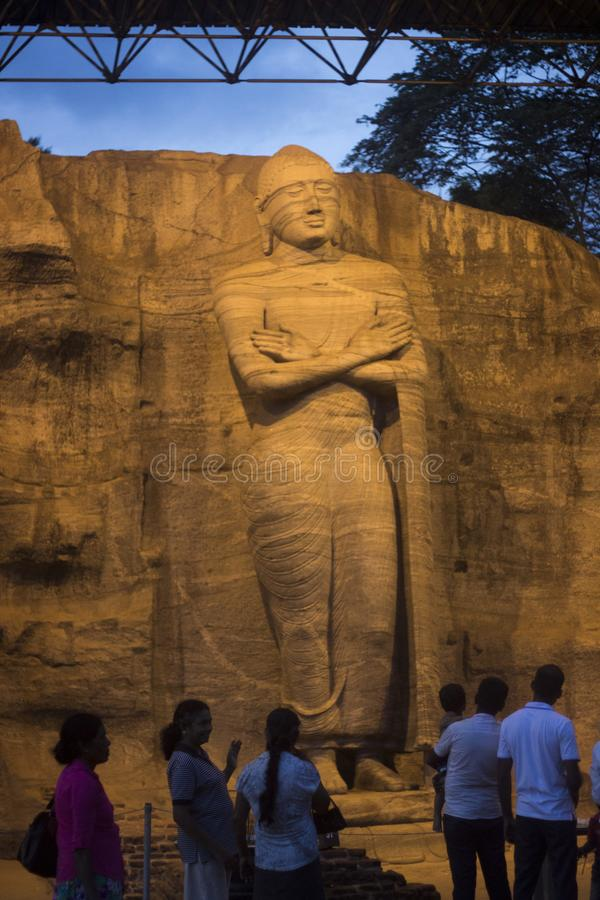 Gal Vihara - Polonnaruwa Sri Lanka photos stock