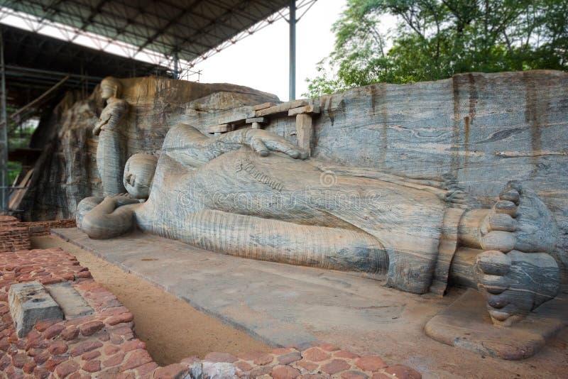 Gal Viharaya菩萨雕象 库存图片
