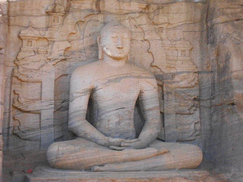 Gal viharaya polonnaruwa斯里兰卡 库存照片