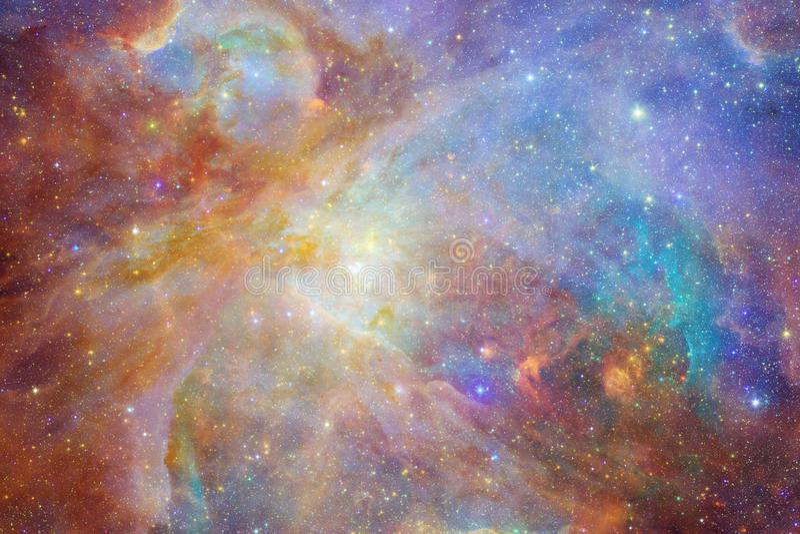 Gal?xia impressionante no espa?o Starfields do cosmos infinito ilustração stock