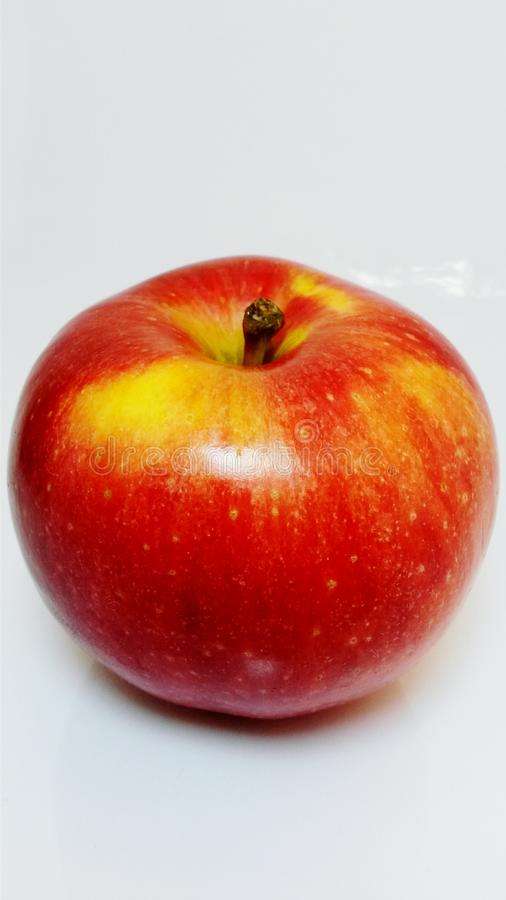 Gala apple shot with white background stock photos