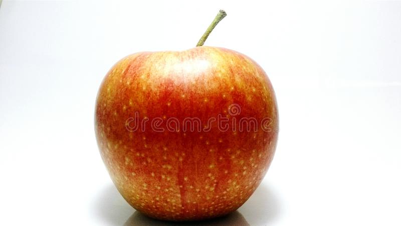 Gala apple wide angle clean backround royalty free stock photography