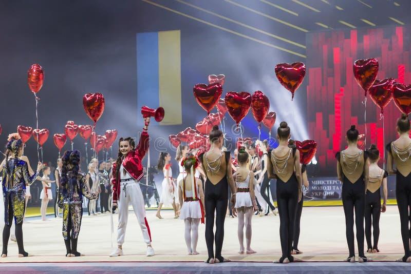Gala Concert della tazza internazionale di ginnastica ritmica a Kiev fotografie stock