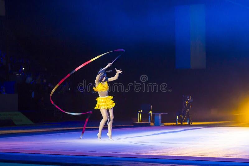 Gala Concert van Ritmische Gymnastiek Internationale Kop in Kyiv stock foto