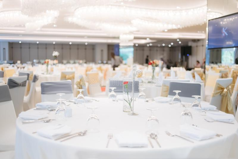 Gala dinner table royalty free stock photo