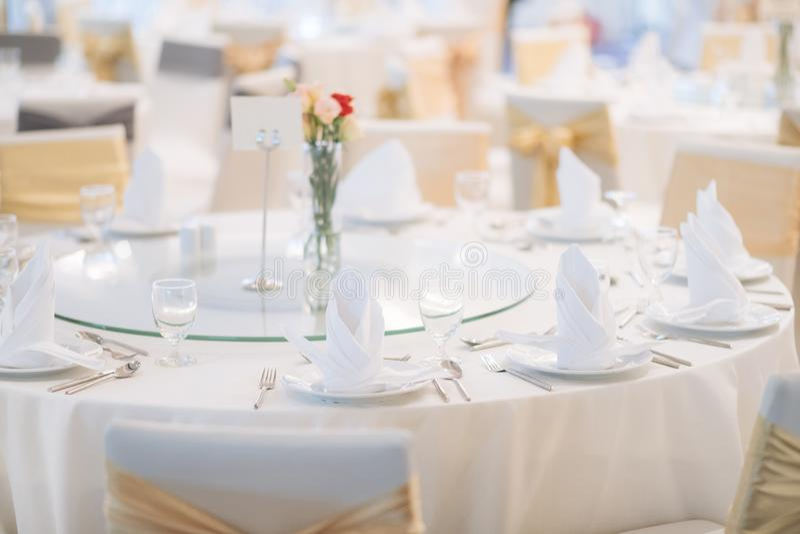 Gala dinner table stock photo