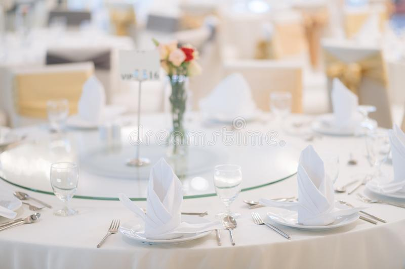 Gala dinner table royalty free stock images