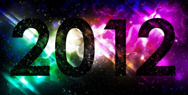 Galactic 2012. Celebrating new years eve stock illustration