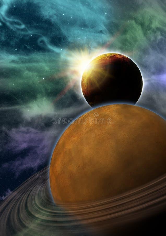 Download Galactic landscape stock illustration. Illustration of sunlight - 28120128