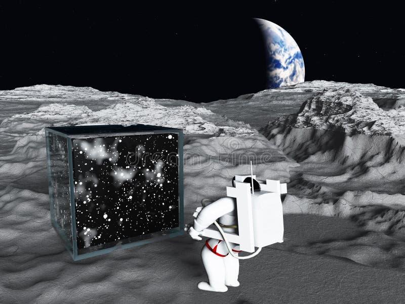 Galaktischer Würfel stock abbildung