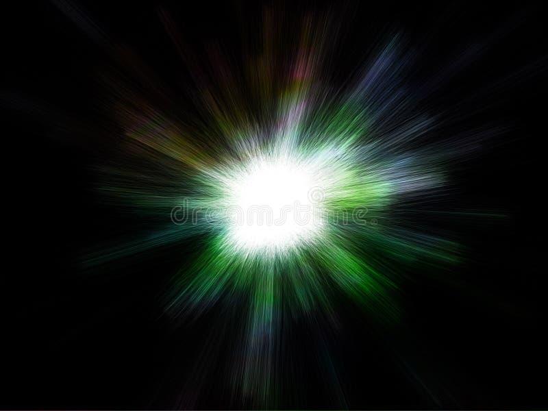 galaktisktt avstånd för främmande ljus explosionfantasi stock illustrationer