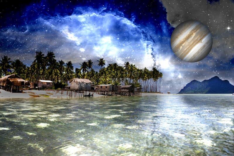 galaktisktt inter avstånd för strand arkivbilder