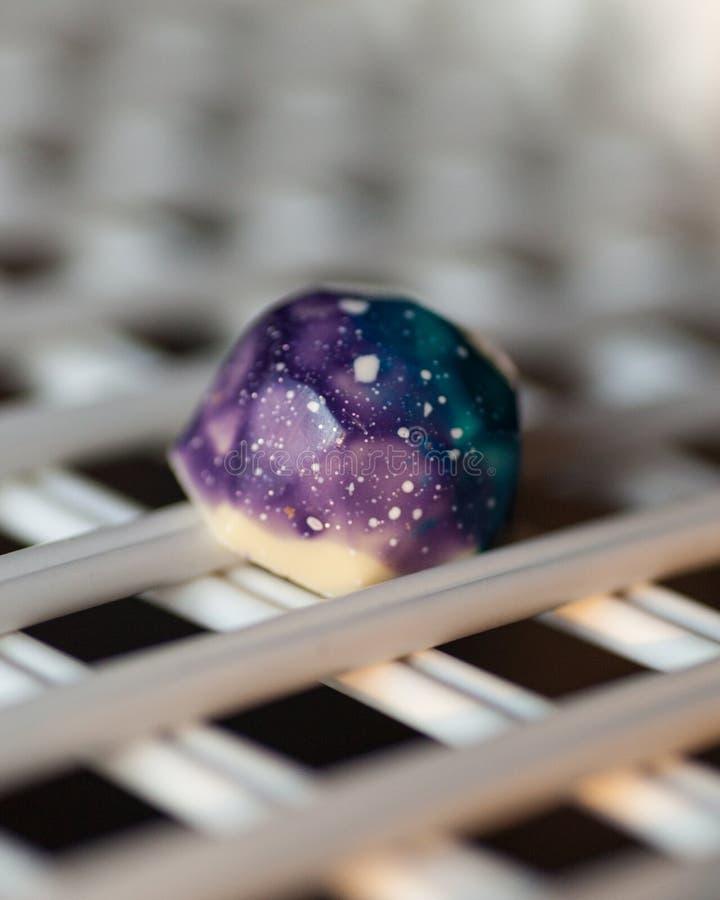 Galaktyka czekoladowi geometryczni kształty fotografia royalty free