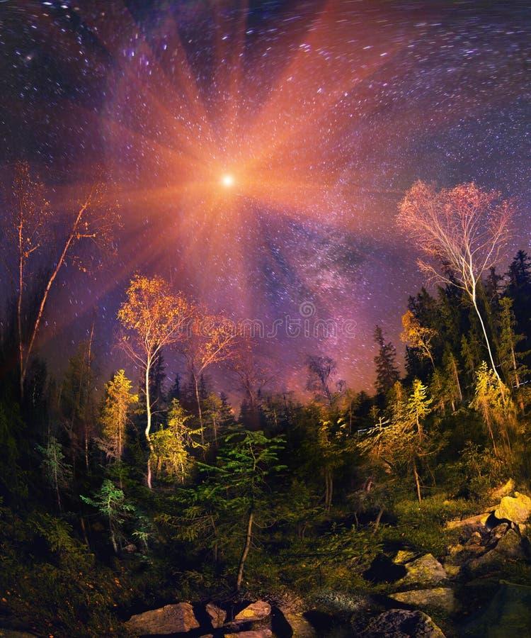 Galaktyka i spadek zdjęcie stock