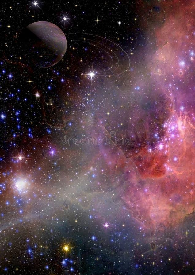 Download Galaktyka W Bezpłatnej Przestrzeni Ilustracji - Ilustracja złożonej z mgławicy, astronomia: 28970218