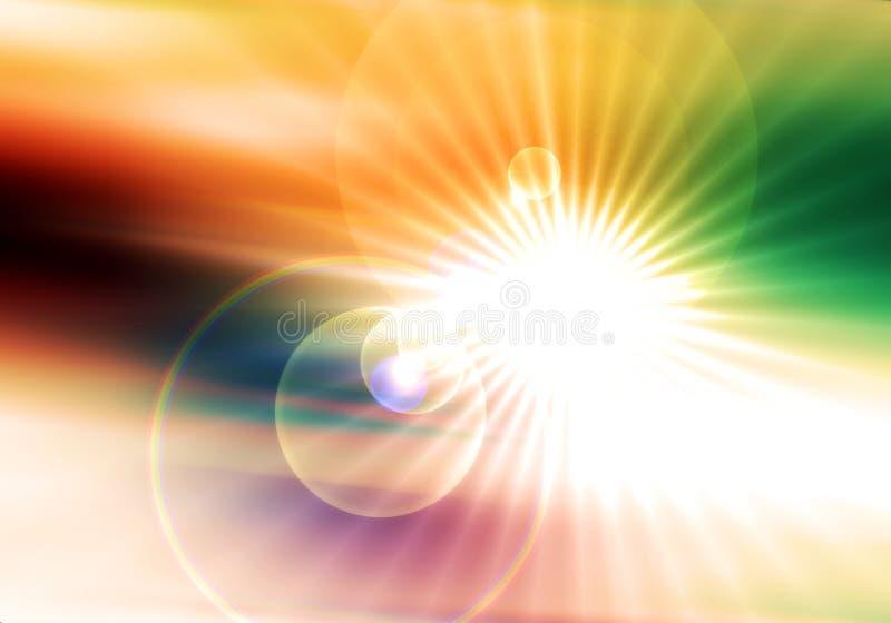 Galaktyka, wszechświat, gwiazdy, energia, kolorowy tło ilustracja wektor