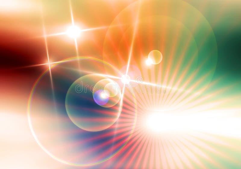 Galaktyka, wszechświat, gwiazdy, promienie, światła, energia, kolorowy tło royalty ilustracja