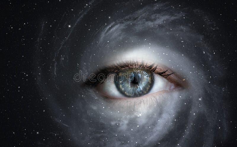 Galaktyka z okiem fotografia stock