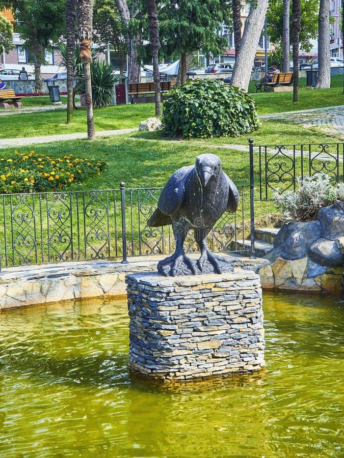 Galandespringbrunnen av Dogancilar parkerar Istanbul Turkiet royaltyfri foto