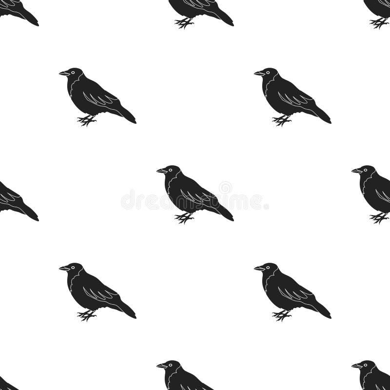 Galandesymbol i svart stil som isoleras på vit bakgrund Illustration för vektor för fågelmodellmateriel vektor illustrationer