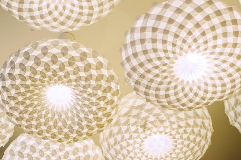 Galanteryjne podsufitowe lampy zdjęcie royalty free