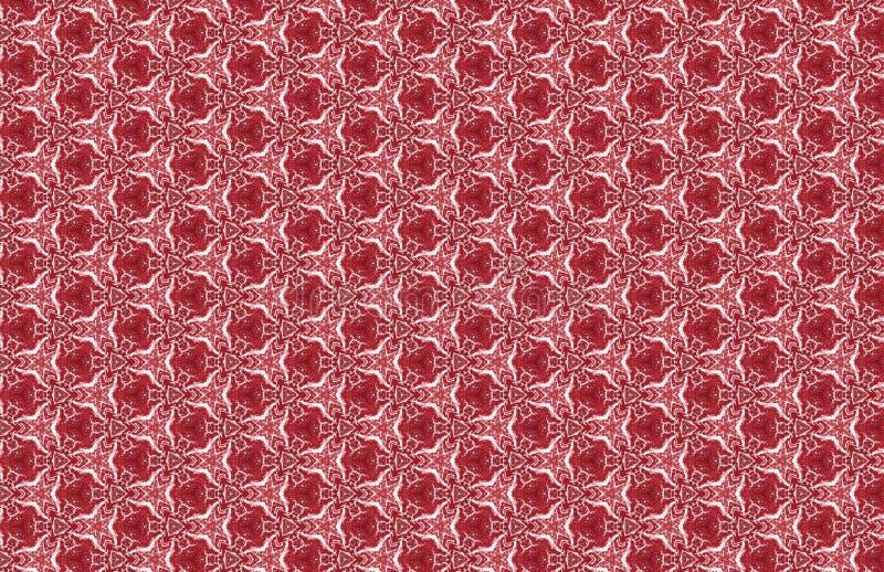 Galanteryjny Czerwony Bia?y abstrakta wzoru projekt royalty ilustracja